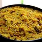 אורז צהוב בתוספת עדשים וחומוס