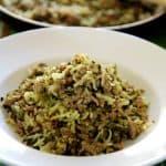 אורז בסמטי בשילוב בשר טחון ותרד