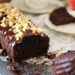 עוגת שוקולד אגוזים טבעונית