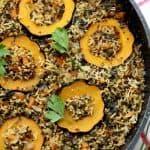 קינואה טריו ואורז בשילוב דלעת ערמונים ועשבי תיבול