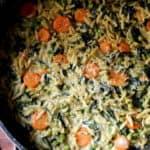 ריזוטו פסטה משולב עם תרד ואפונה ירוקה
